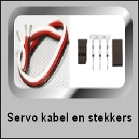 SERVO KABEL en STEKKERS